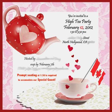 High Tea for Valentine's Day | kriegart