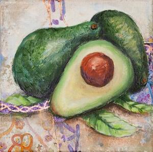 Painting of Avocado