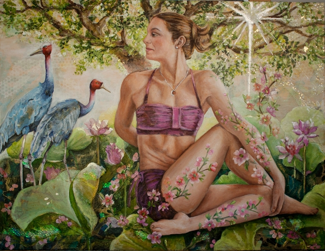 painting titled garden camoflauge
