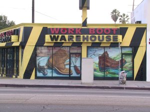 Workboot Warehouse Mural
