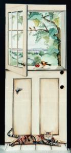 Trompe l'oeil Kitchen Door