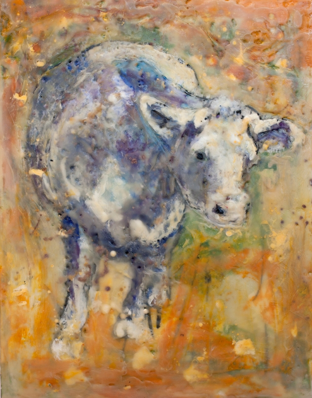 "'Enlightened Bull' 9"" x 12"" by Susan Krieg"