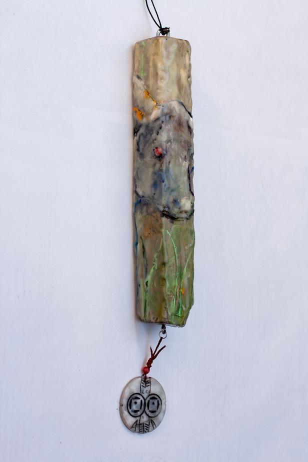 "'Encowstick' 13"" x 2"" x 2"" by Susan Krieg"