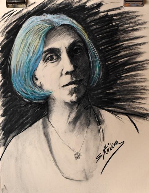 self portrait of Susan Krieg
