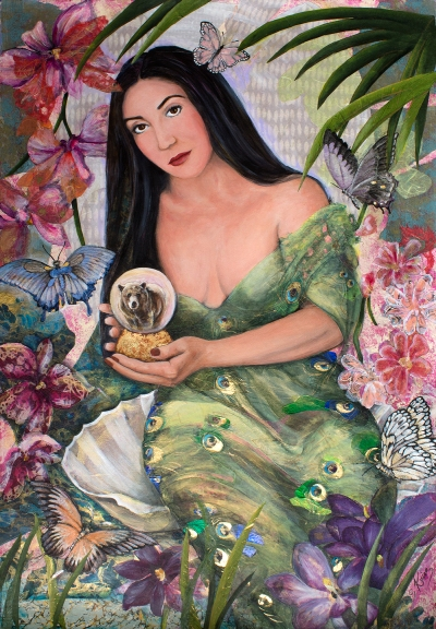 Susan Krieg's commissioned portrait of a beautiful woman.