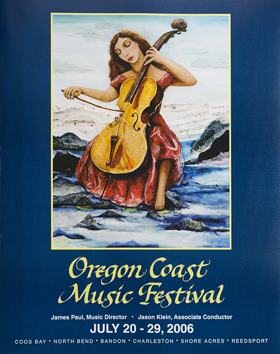 Poster of Woman Playing Cello.